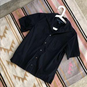 Ralph Lauren Buttoned Up Black Short Sleeve Shirt